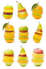 colección de frutas mezcladas
