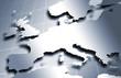 Mapa de Europa en metal