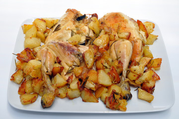 Pollo arrosto con patate