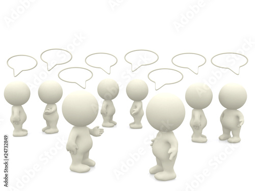 3D people talking