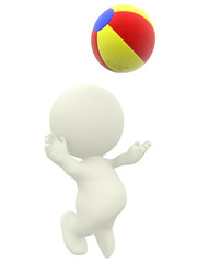 3D person with beachball