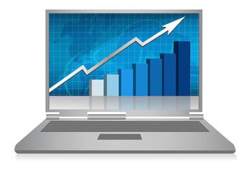 Success Business chart computer