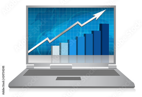 Success Business chart computer