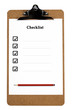 Clipboard with a ticked checklist and pencil