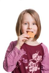 Mädchen mag Kekse