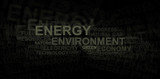 Energy and environment – word cloud poster