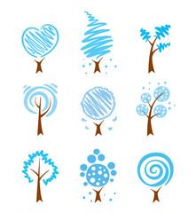 Icons - winter trees