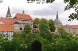 Warburg Stadtansicht mit Gymnasium Marianum poster