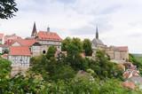 Stadtansicht Warburg (Westfalen) mit Gymnasium Marianum poster