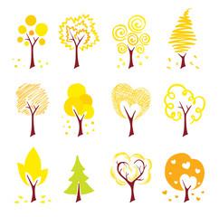 Icons - autumn trees