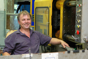 skilled labourer in factory