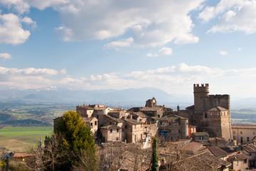 View of Nazzano and Tiber valley, Lazio - Italy