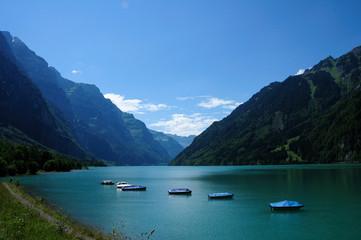 Kloentalersee in the Swiss Alps
