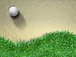 Golf ball on sand