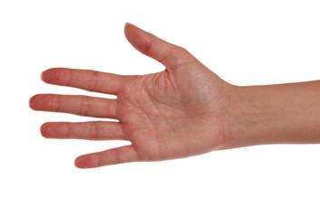 Rechte Hand einer Frau