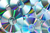 heap of dvd, cd disks