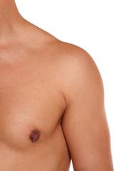 Linke Schulter vom Mann