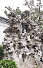famous shizilin garden in Suzhou China