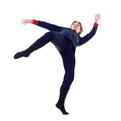 Dancer leaning backward