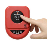press fire alarm button with isolated background