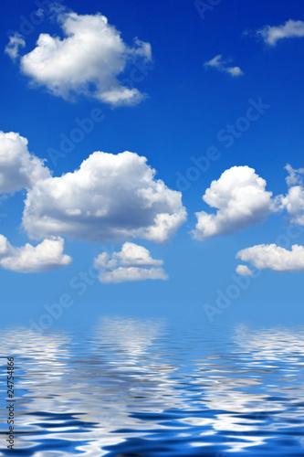 Wolken und Spiegelung