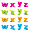 Colorful alphabet.