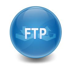 """Esfera brillante con texto """"FTP"""""""