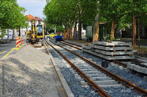 Strassenbahn - Baustelle