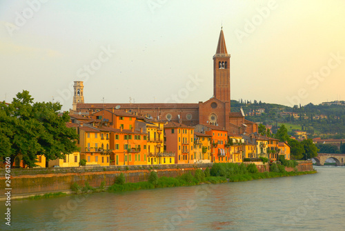 Verona, Italy on the river