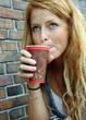Kaffee trinken unterwegs...