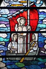 vitrail de la chapelle Pol ,brignogan,kerlouan,finistère