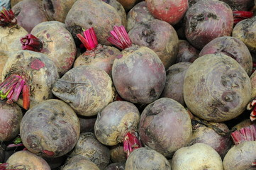 Beetroots For Sale At The Market Stall