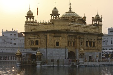 Famous Golden Temple in Amritsar, India