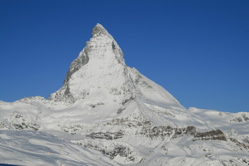 Matterhorn im Winter