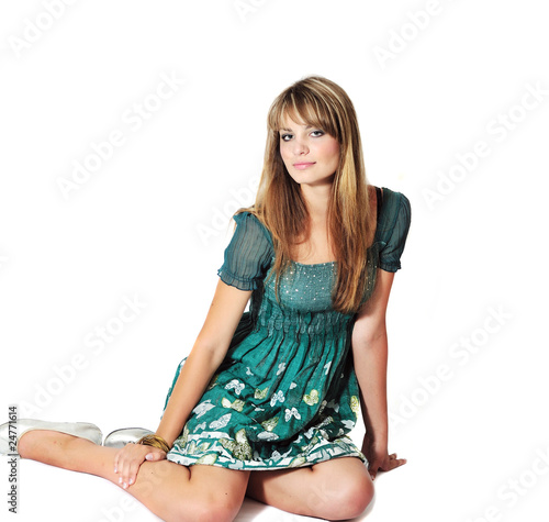 fashion sitting girl