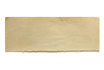 Torn Old Notepaper Banner
