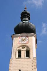 Kirchturm der Wallfahrtskirche Maria Thalheim