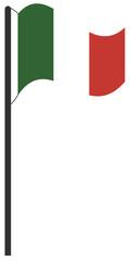 Flaggenmast Italien