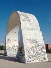 Anillo tunel metro decorativo vista lateral