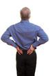 Mann berührt seinen Rücken