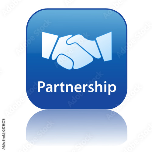 PARTNERSHIP Web Button (handshake contract business customers)