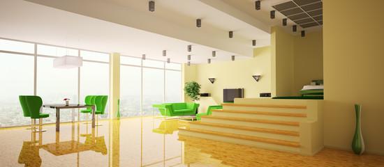 Apartment Innenaufnahme panorama 3d