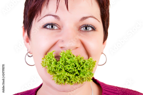 funny eating salad