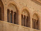 romanesque architecture in parma italy poster
