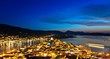 Greek island Poros at night, Greece