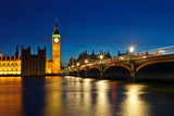 Fototapety Big Ben and Houses of Parliament at night, London, UK