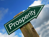 Prosperity road sign poster