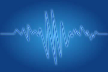 EKG blau