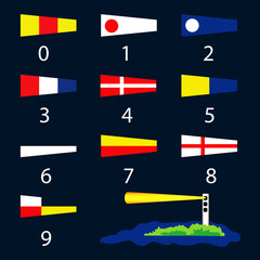 Nautical signal flags - number