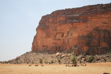 Bandiagara escarpment from Mali, near Douentza